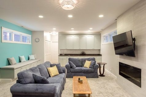 Wilmette Basement Renovations Awesome Basement Renovation Design