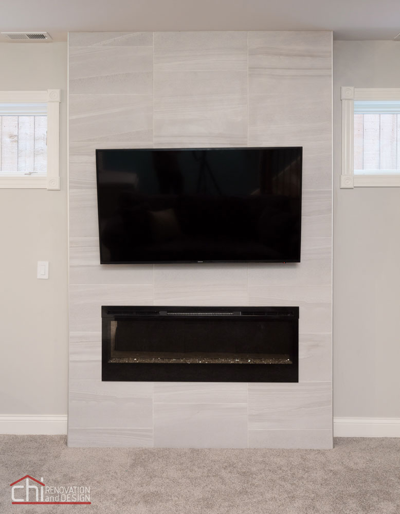 Chicago Lincoln Square Basement Fireplace Remodelers