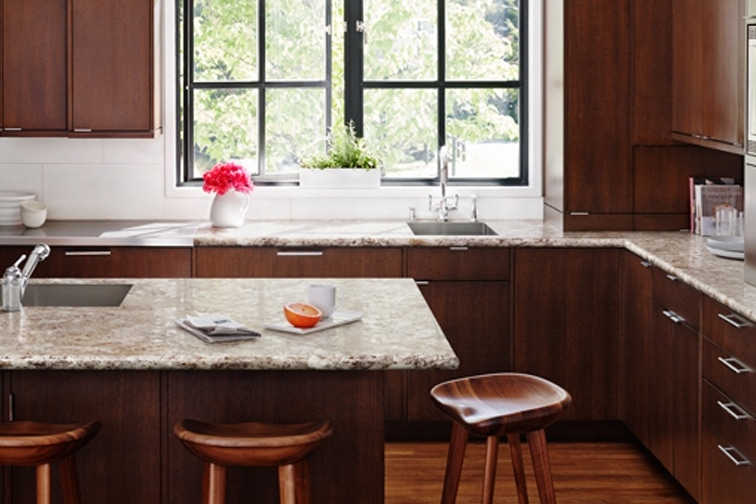 Plastic Laminate Kitchen Countertop