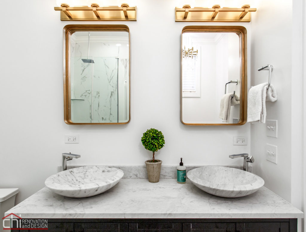 Ranch Triangle Chicago He She Vanity Renovation