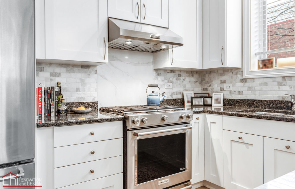 Ranch Triangle Chicago Kitchen Cabinet Renovation