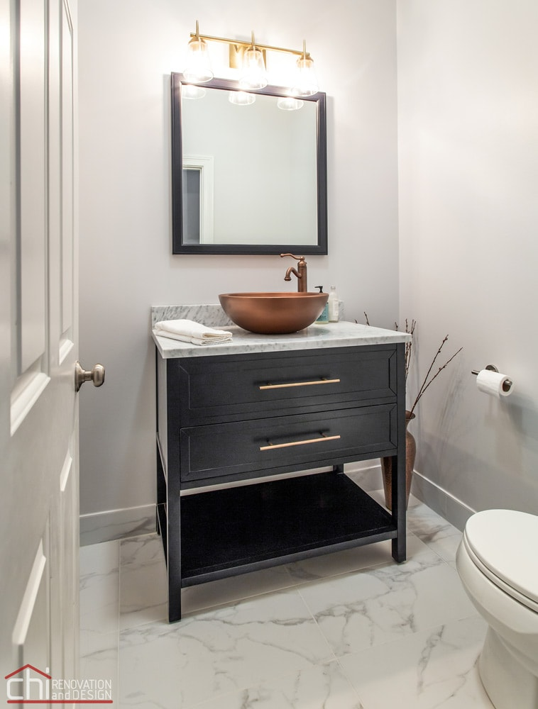 Ranch Triangle Chicago Powder Room Renovation