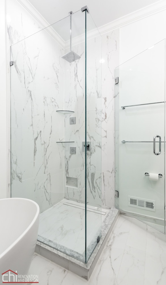 Ranch Triangle Chicago Shower Renovation