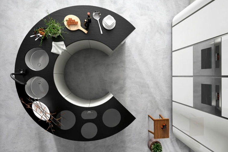 Round Kitchen Island Design