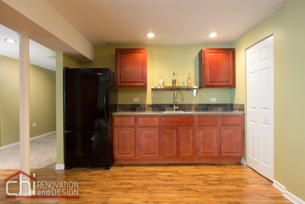 Round Lake Basement Kitchen Remodel