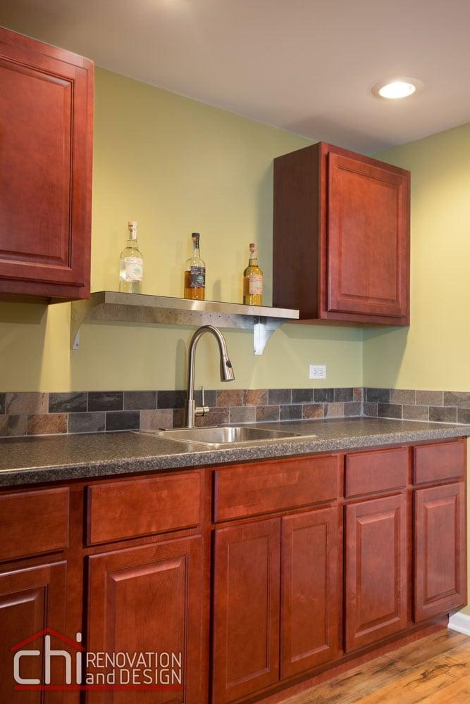 Round Lake Basement Kitchen Renovation