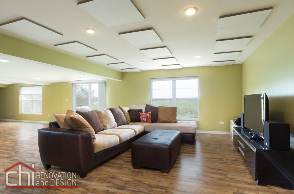 Round Lake Basement Living Room Renovation