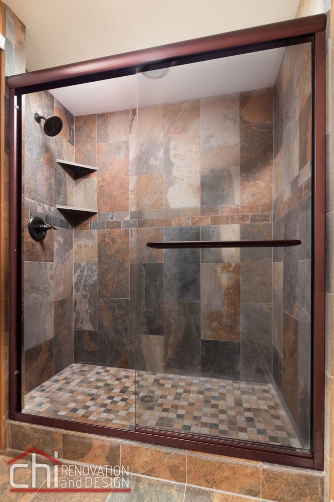 Round Lake Basement Shower Renovation