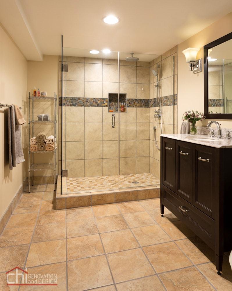 Skokie Basement Bathroom Remodel