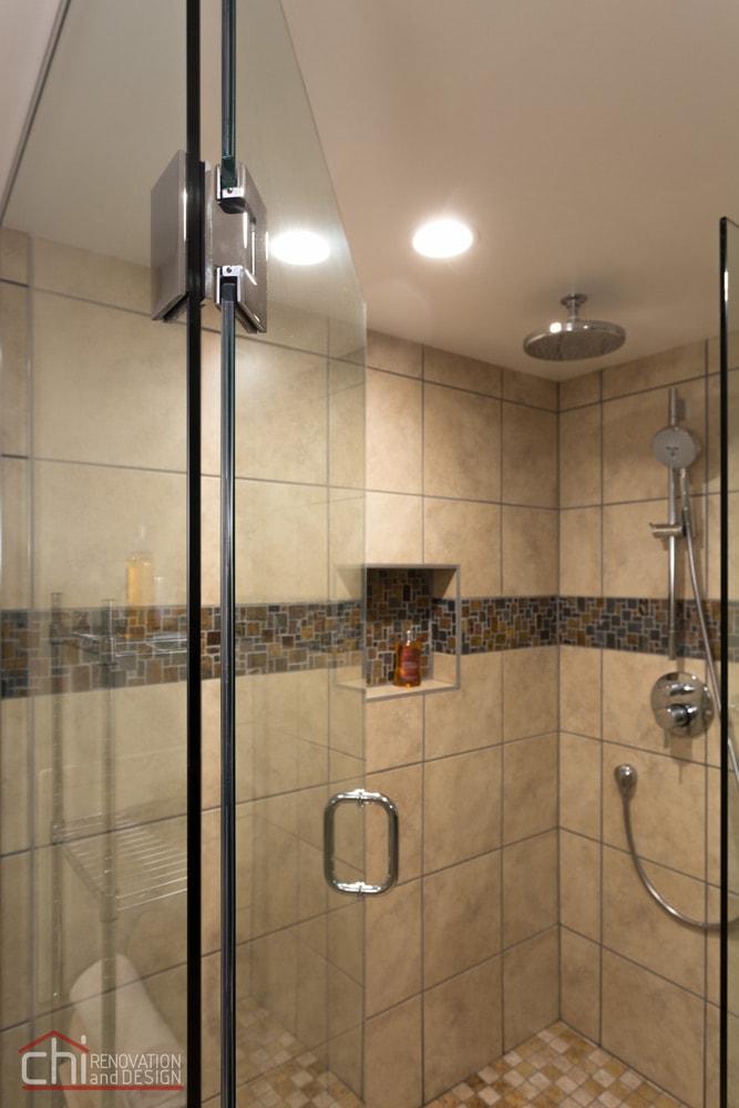 Skokie Basement Bathroom Shower Remodel