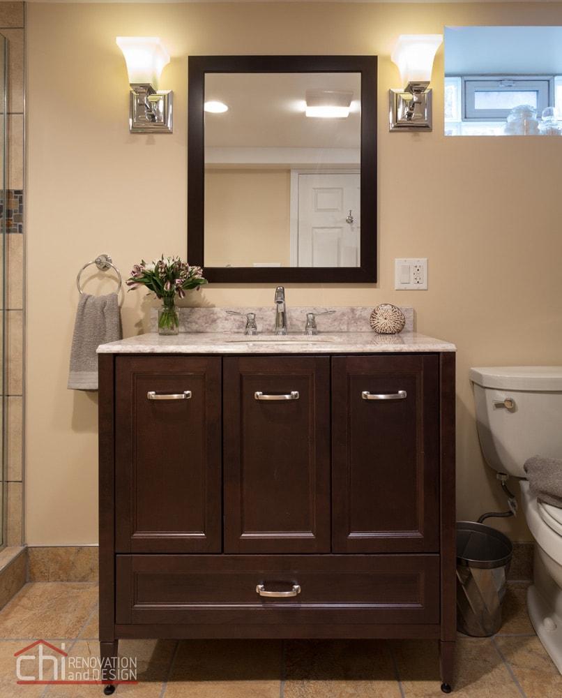 Skokie Bathroom Custom Vanity Remodel