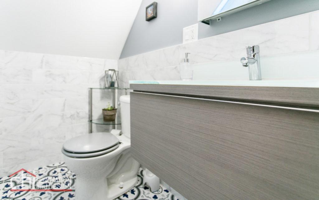Tastefully Urban Bathroom Sink Remodel