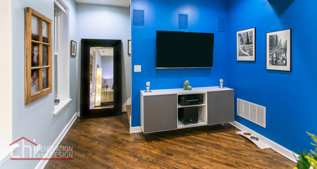 Tastefully Urban Family Room Remodel
