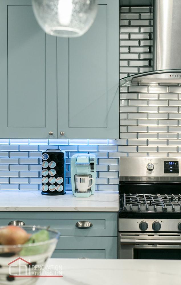Tastefully Urban Kitchen Backsplash Remodel