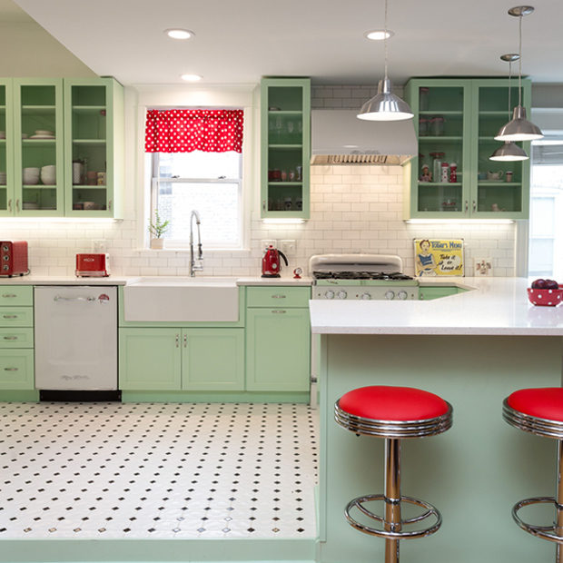 1950s Retro Humboldt Park Kitchen