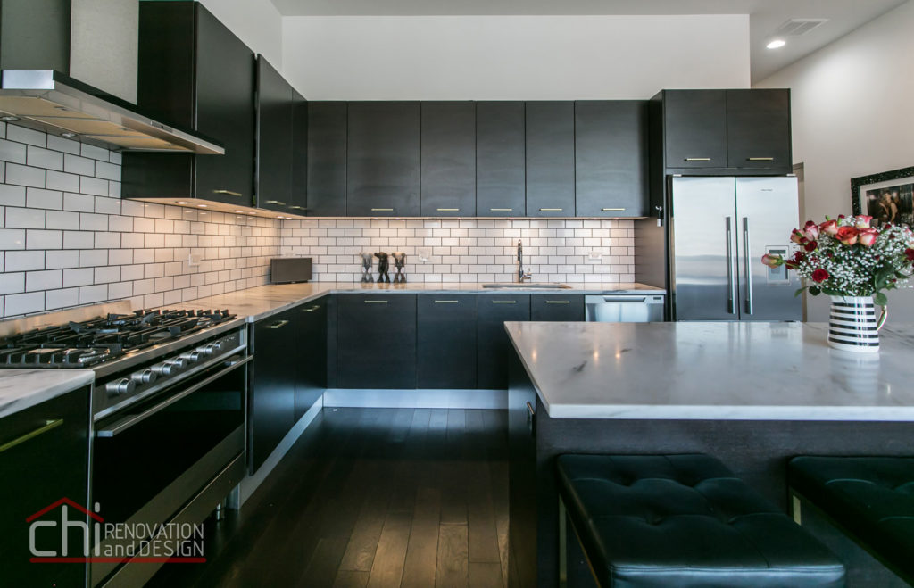 Artistic Urban Chicago Kitchen Cabinets Remodel