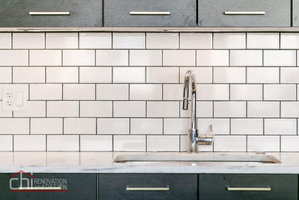 Artistic Urban Chicago Kitchen Sink Remodel
