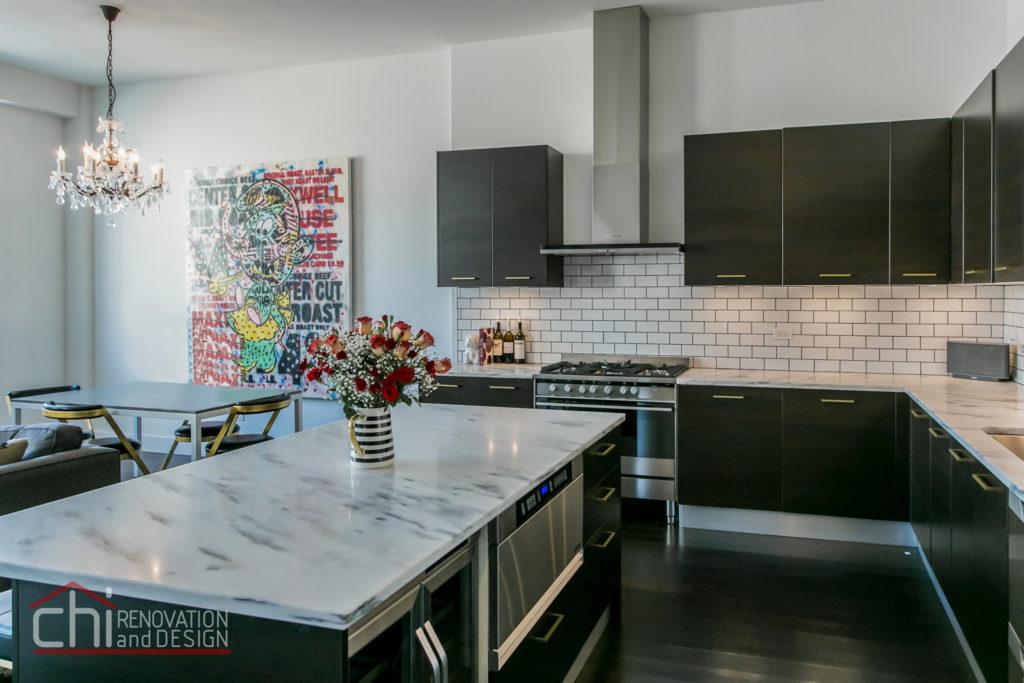 Artistic Urban Chicago Open Kitchen Renovation