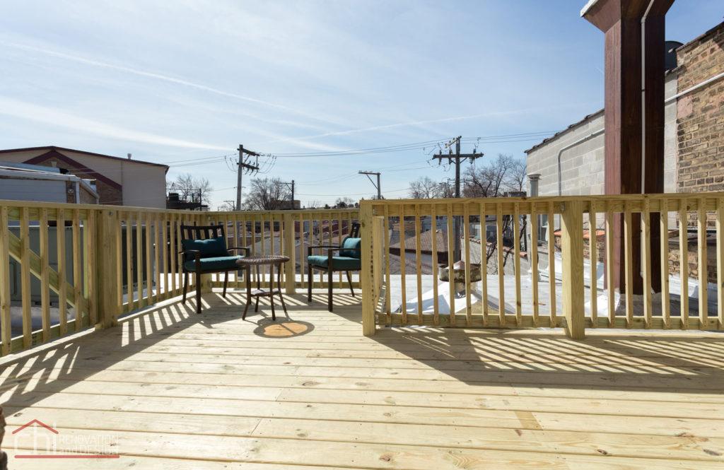 Avondale Airbnb Rental Chicago Deck Remodel