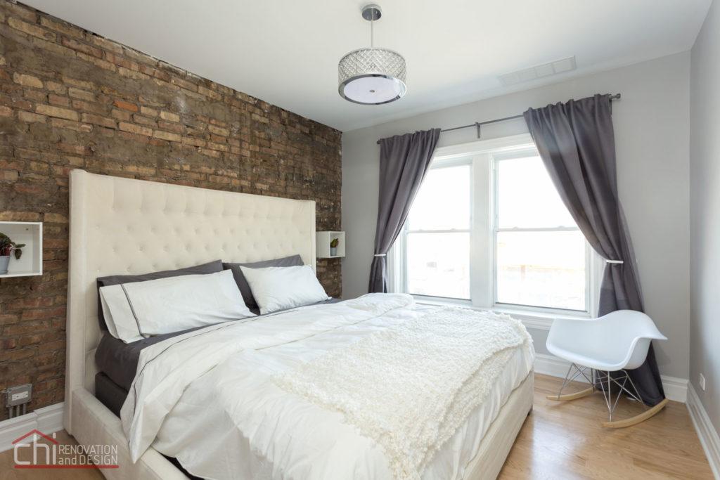 Chicago Avondale Airbnb Rental Bedroom Remodel