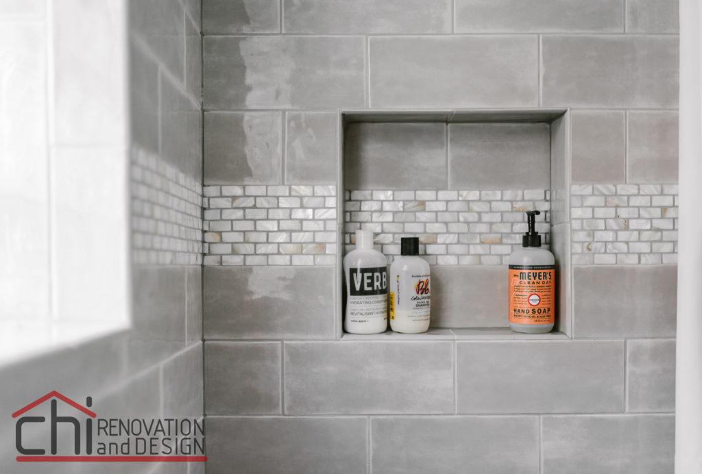 Chicago Basement Bathroom Shower Renovation