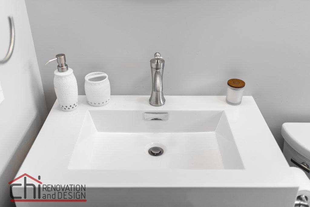 Chicago Basement Bathroom Sink Detail