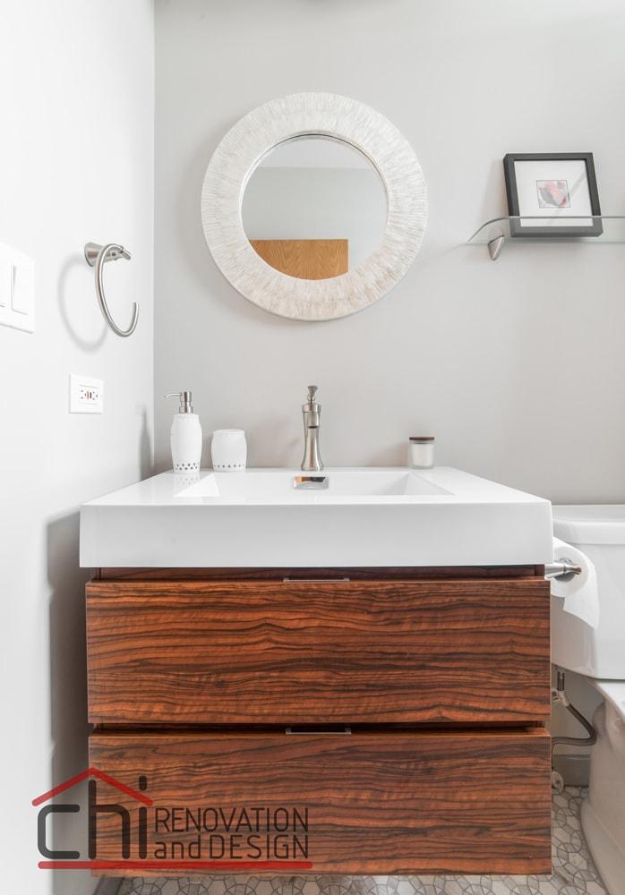 Chicago Bathroom Custom Wood Vanity