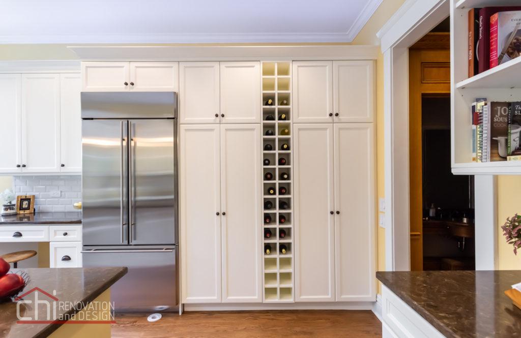 Chicago Burling St Kitchen Custom Wine Rack Remodel