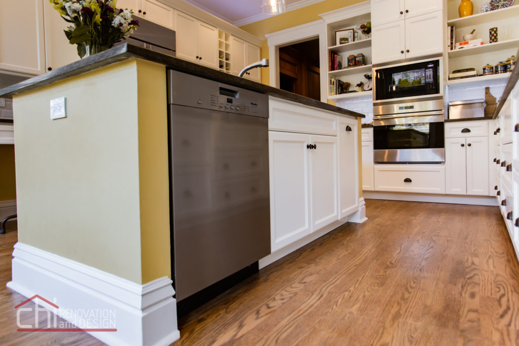 Chicago Burling St Kitchen Flooring Renovation