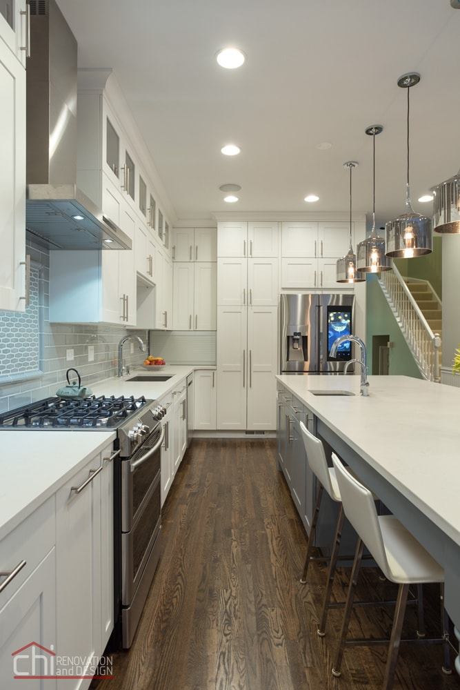 Chicago Contemporary White Kitchen Remodel