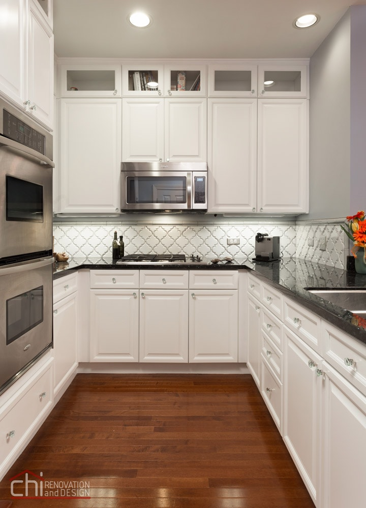 Chicago Loop Condo Kitchen Cabinet Remodel