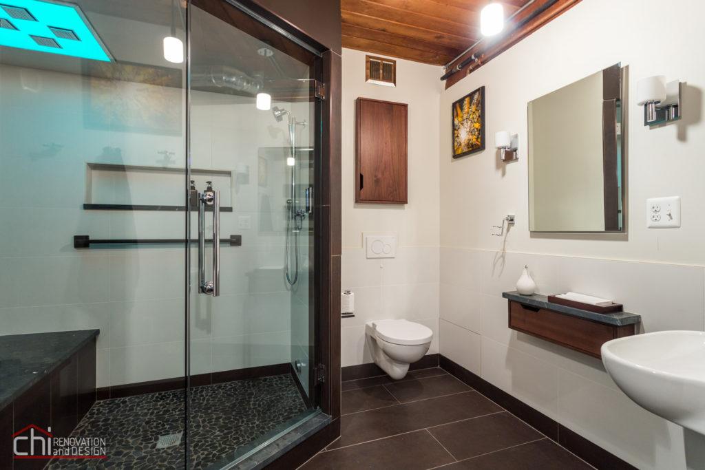 Chicago Man Cave Bathroom Interior Renovation