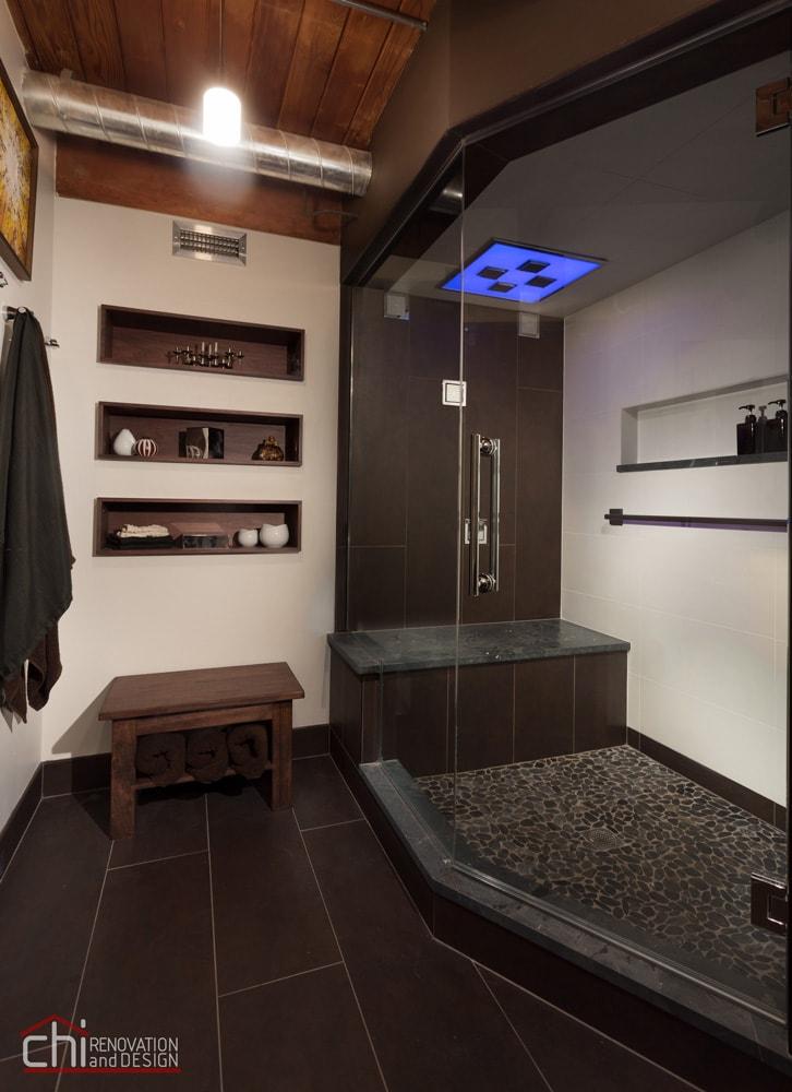 Chicago Man Cave Bathroom Shower Renovation