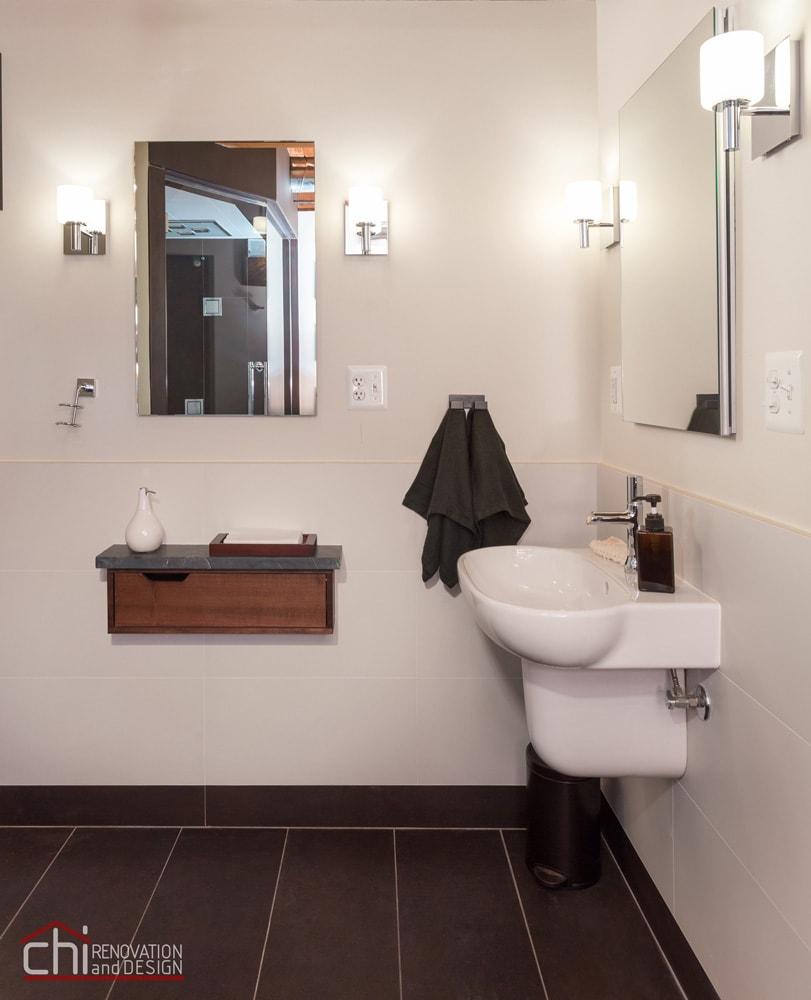 Chicago Man Cave Bathroom Sink Renovation