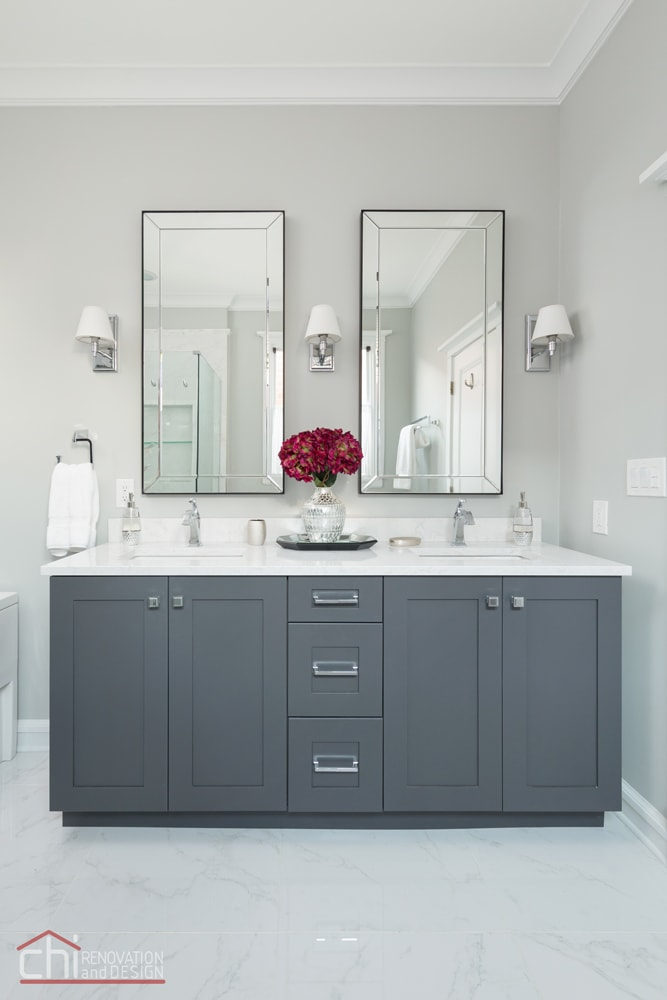 CHI | Chicago Master Bathroom Vanity Design