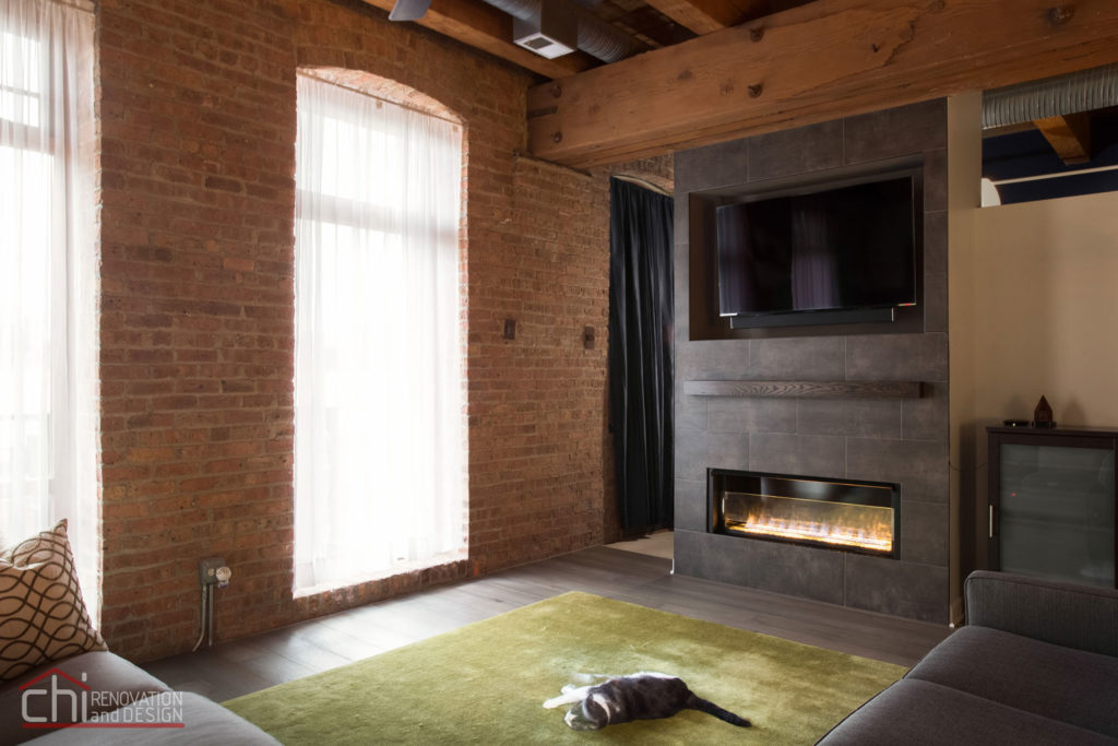 Chicago Modern Rustic Living Area Remodel