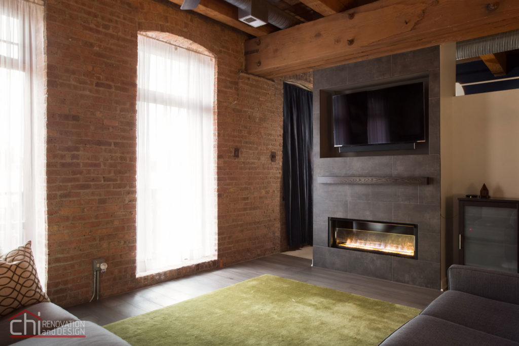 Chicago Modern Rustic Living Area Remodeling