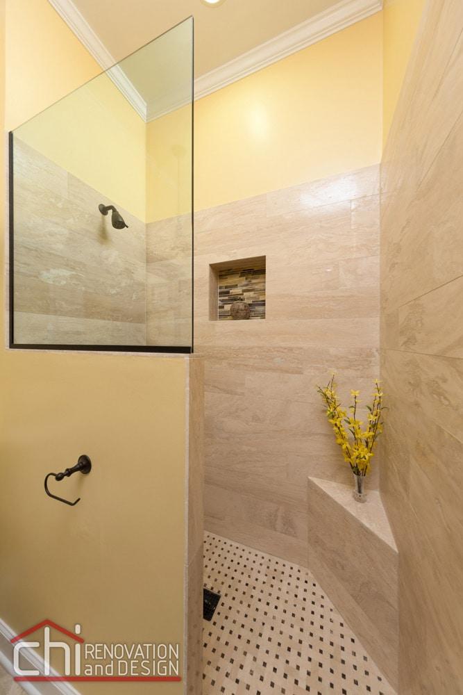 Chicago Old Town Bathroom Shower Renovation