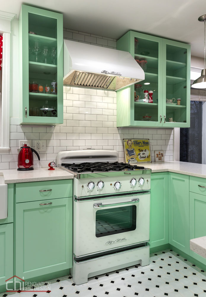 Chicago Retro Humboldt Park Kitchen Remodel