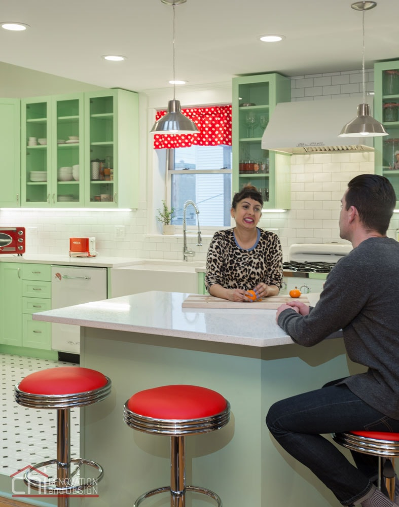 Chicago Retro Humboldt Park Kitchen Remodelers