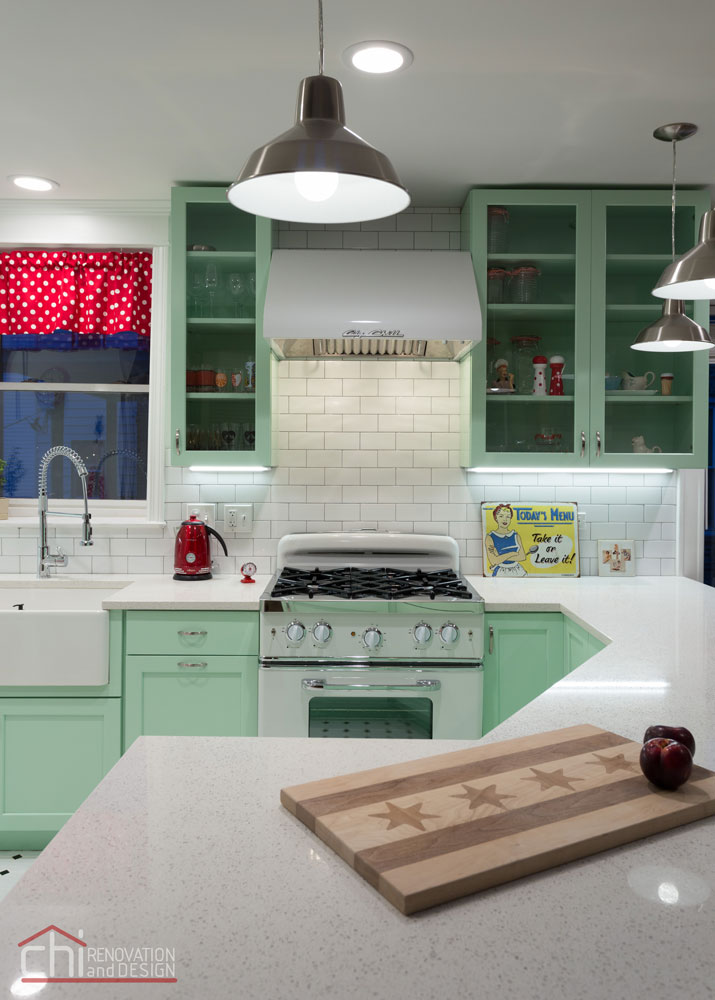 Chicago Retro Humboldt Park Kitchen Remodeling