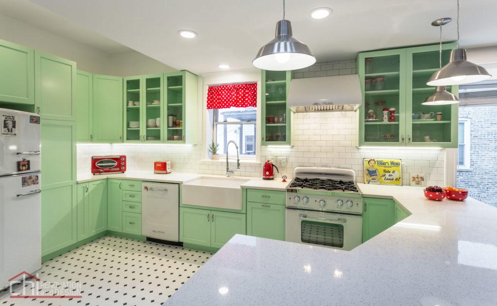 Chicago Retro Humboldt Park Kitchen Renovation