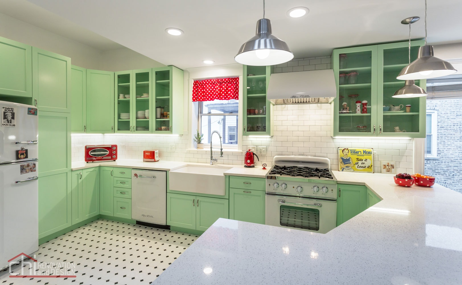 Chicago Retro Humboldt Park Kitchen Renovation