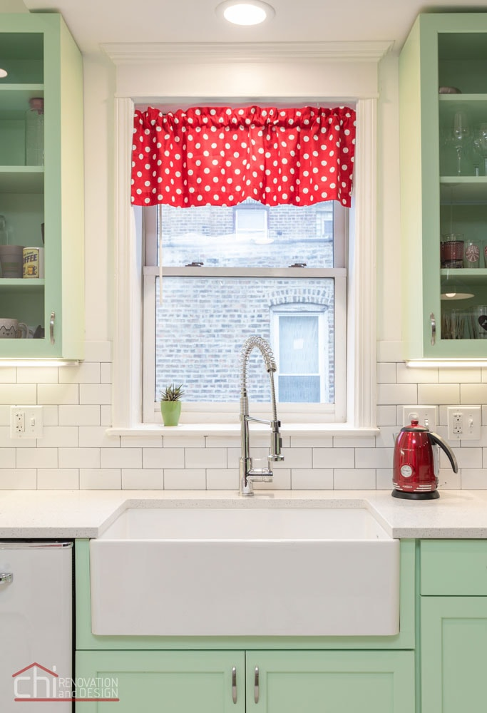 Chicago Retro Humboldt Park Kitchen Sink Remodel