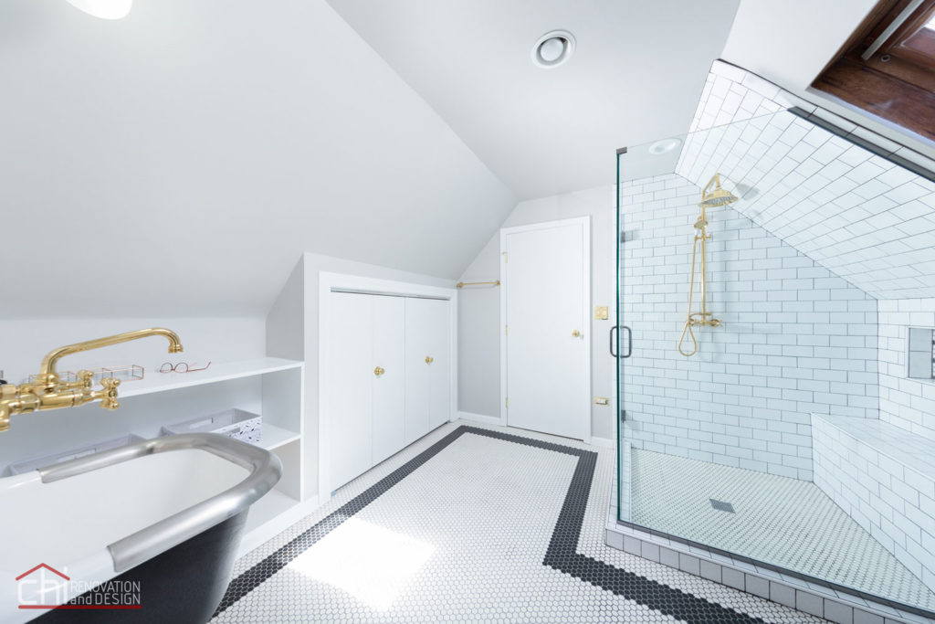 Chicago Roscoe Village Attic Space Bathroom Renovation