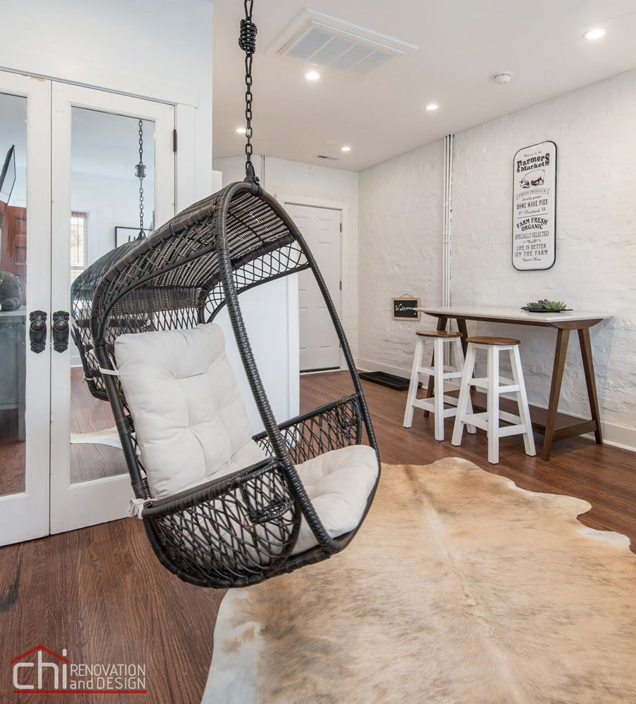Chicago Shabby Chic Studio Loft Design Renovation