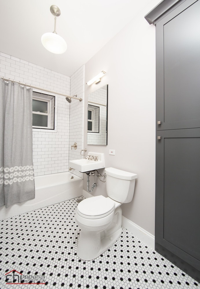 Chicago Vintage Bathroom Flooring Renovation