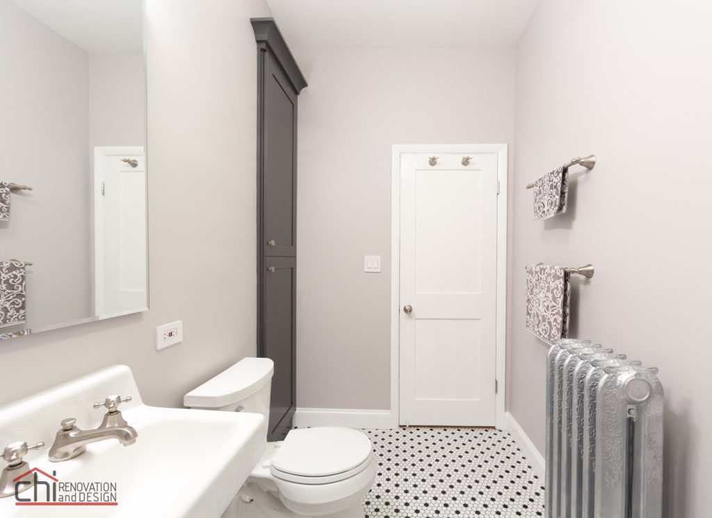 Chicago Vintage Bathroom Interior Renovation