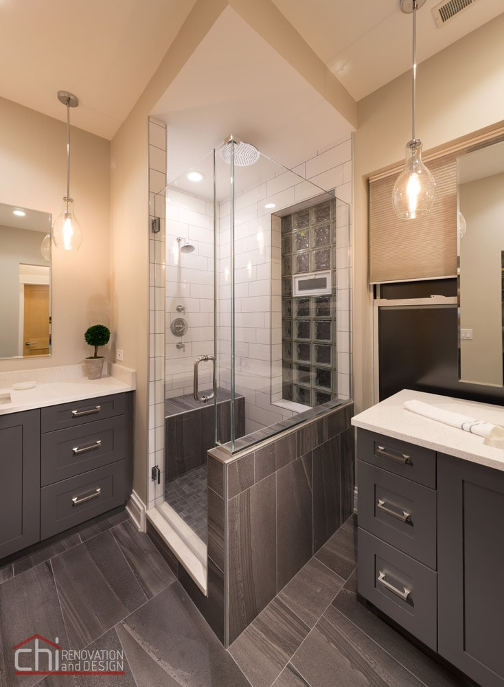Chicago West Town Bathroom Shower Remodel