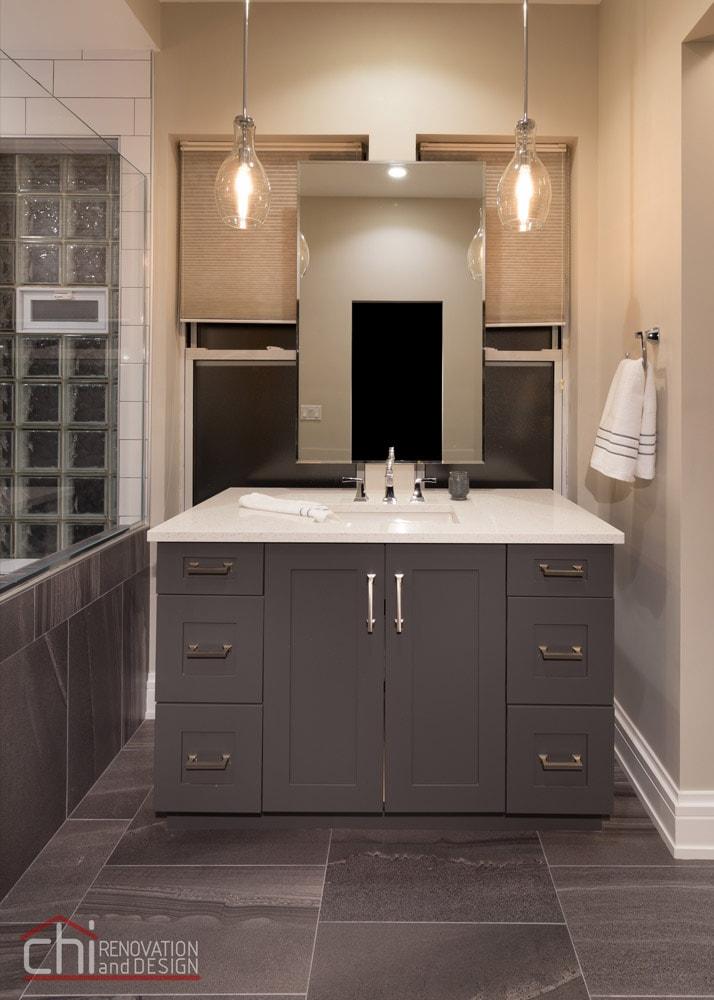 Chicago West Town Bathroom Vanity Remodel